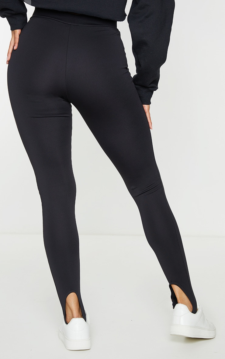 Black Scuba Sculpt Stirrup Leggings 3