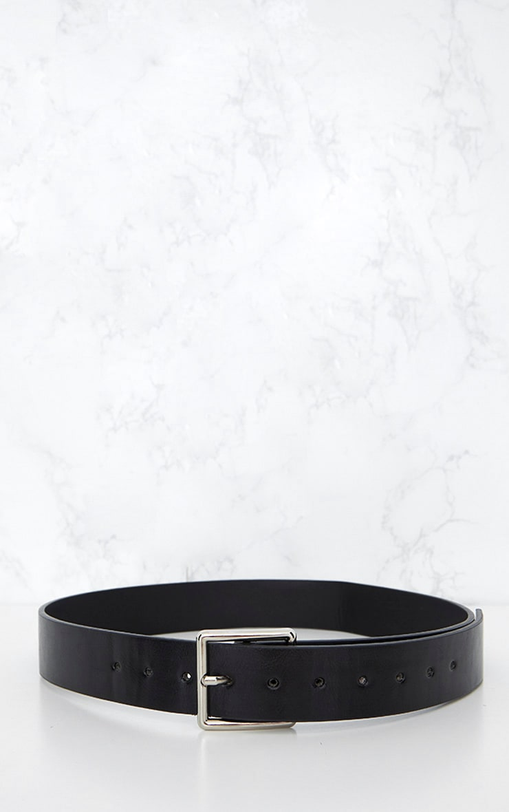 Black Basic Square Buckle Belt 5