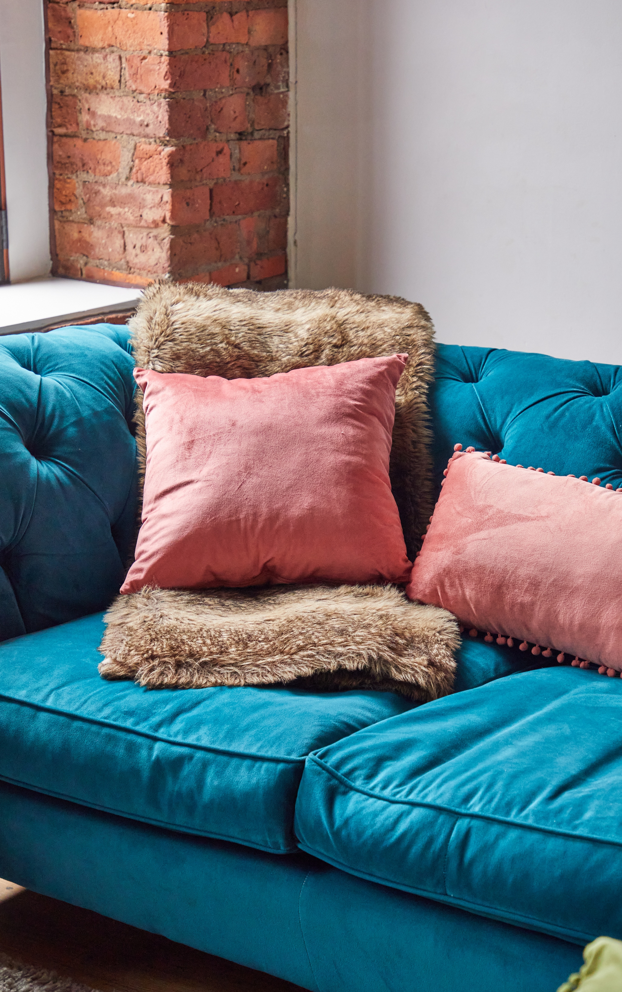 Dusty Pink Velvet Cushion 2