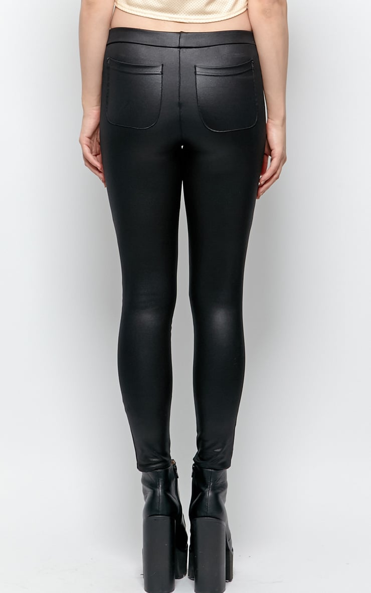 Emilia Black Disco Leggings 2