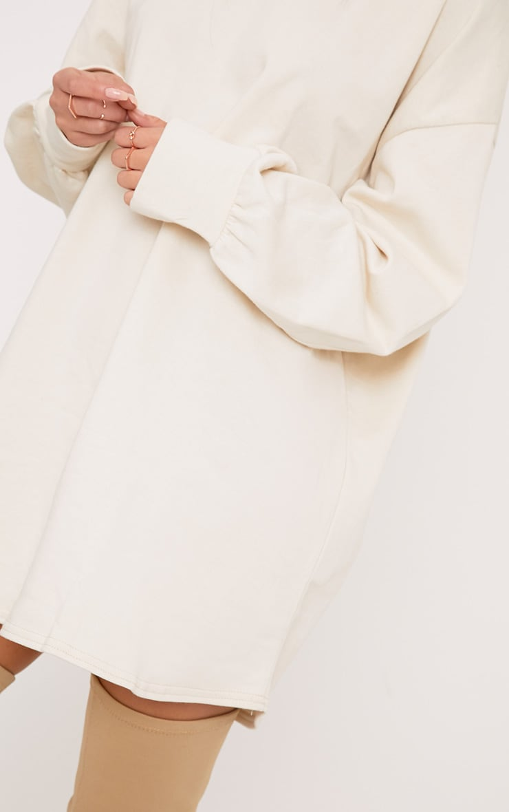 Sianna Taupe Oversized Sweater Dress 5