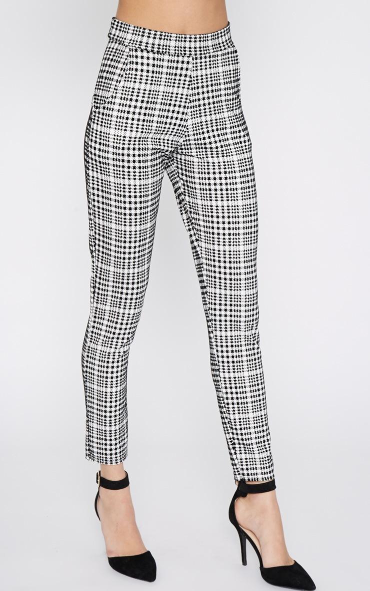 Salma Monochrome Velvet Dogtooth Trouser 5