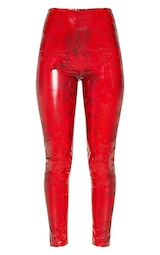 e703099b00 Red Printed Vinyl Legging image 3
