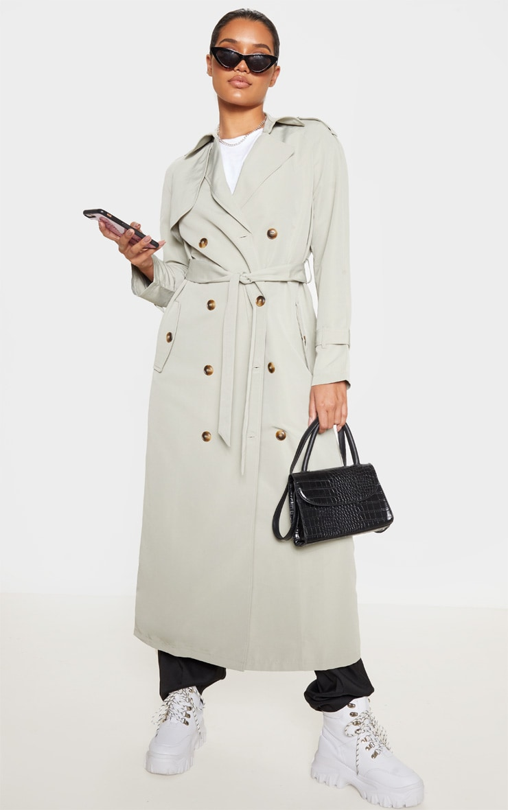 Pale Khaki Trench Coat 1