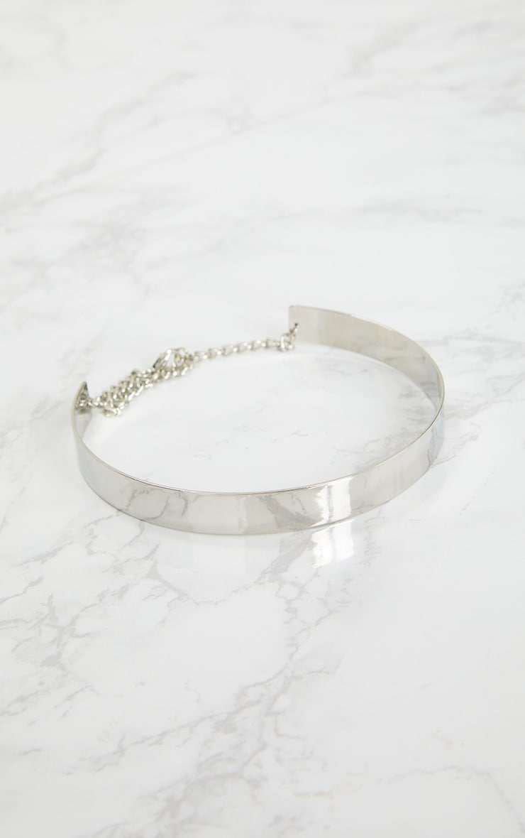 Trish Silver Thinline Metal Choker 3