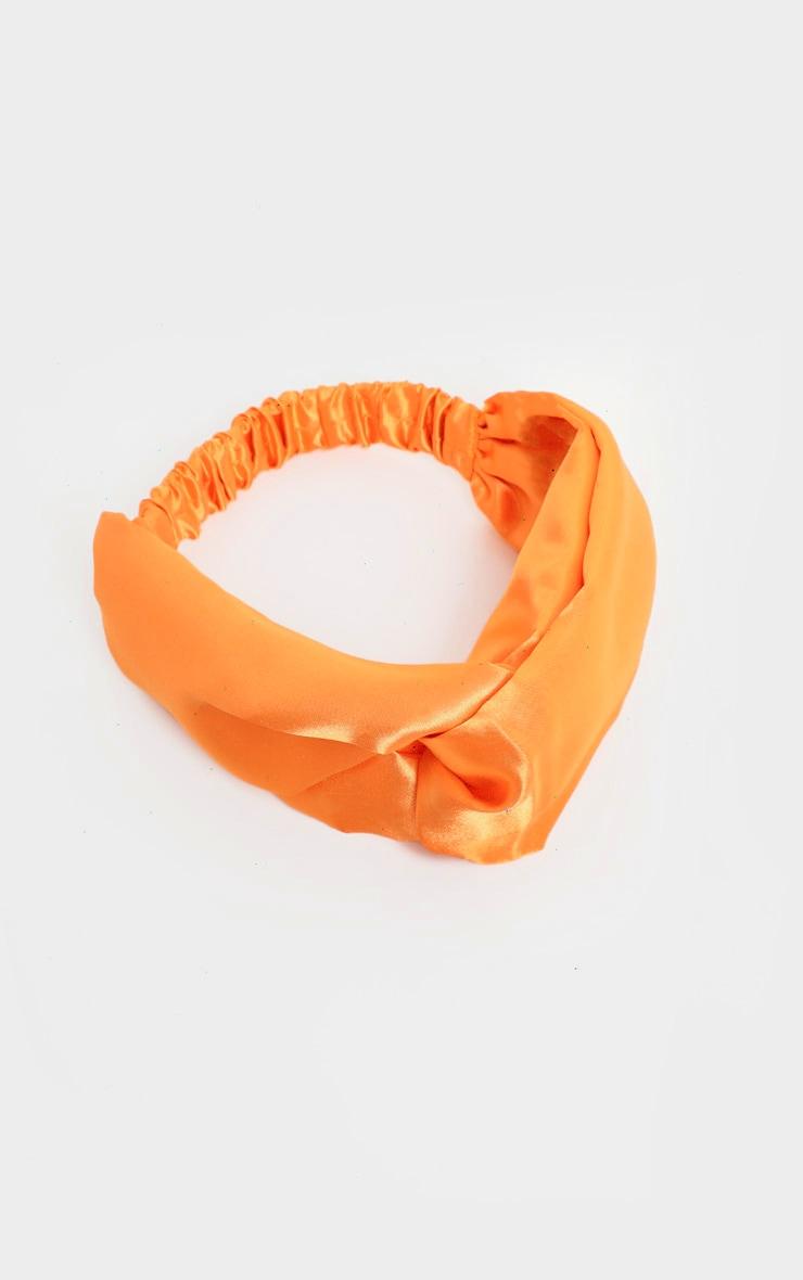 Orange Satin Headband 2