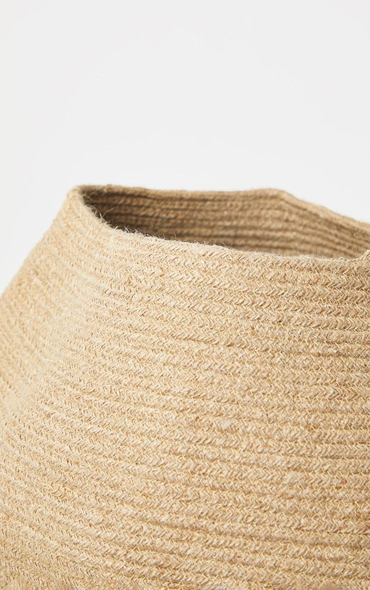 Natural Jute Round Storage Basket  5