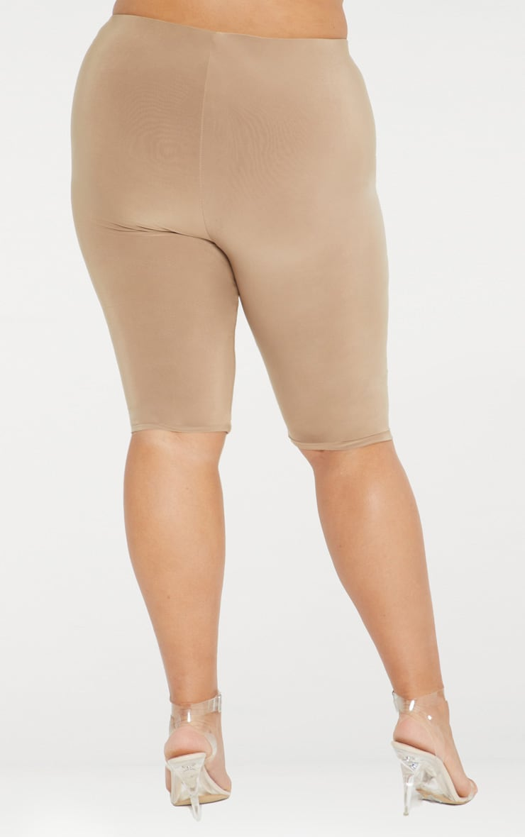 Plus Camel Second Skin Slinky Long Line Cycle Short 4