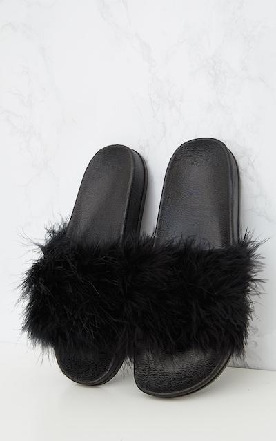 Black Feather Sliders