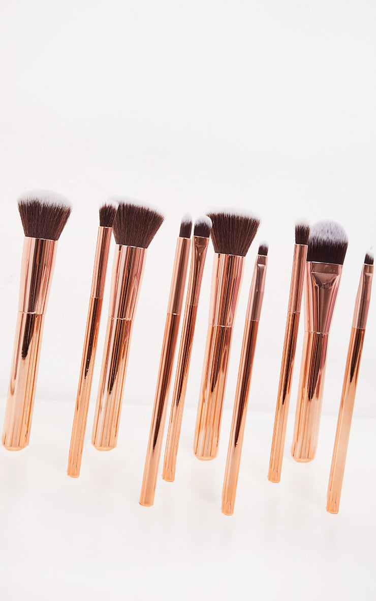 Zoe Ayla 10 Piece Luxurious Gold Make-up Brush Set 4
