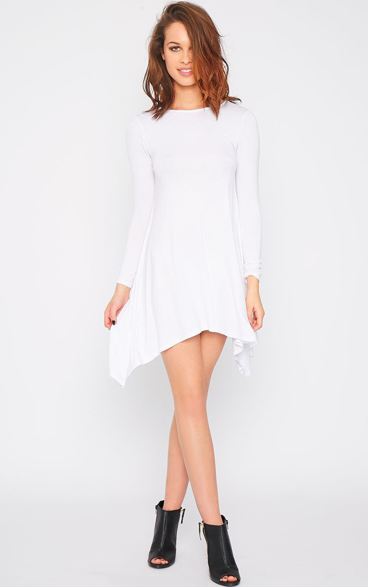 Basic White Swing Dress 1