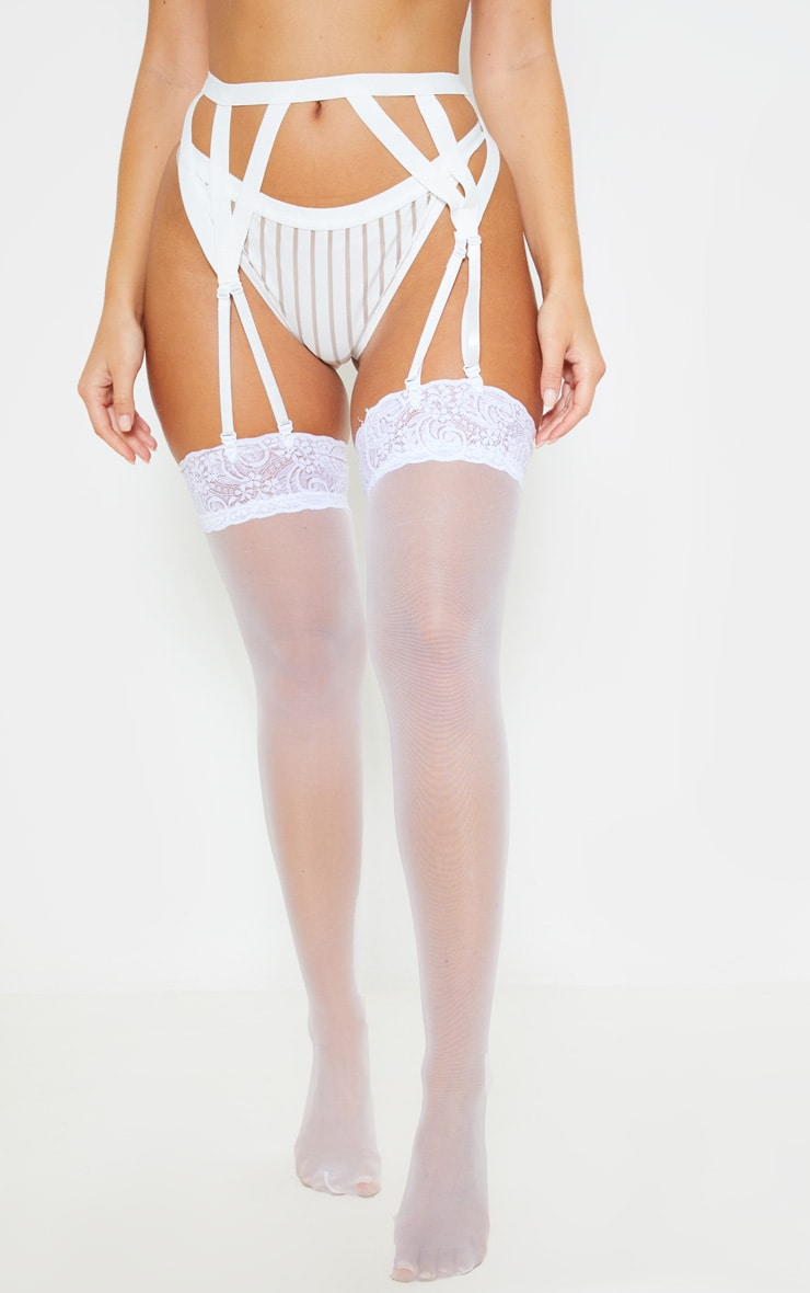 White Strappy Detail Suspender 2