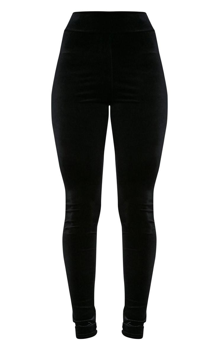 Eryn legging taille haute en velours noir 3