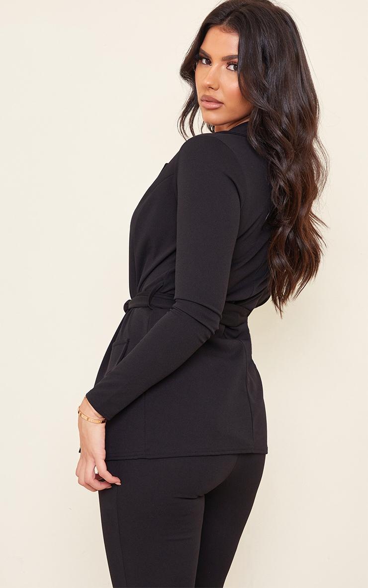 Tall Black LongLine Suit Blazer 2