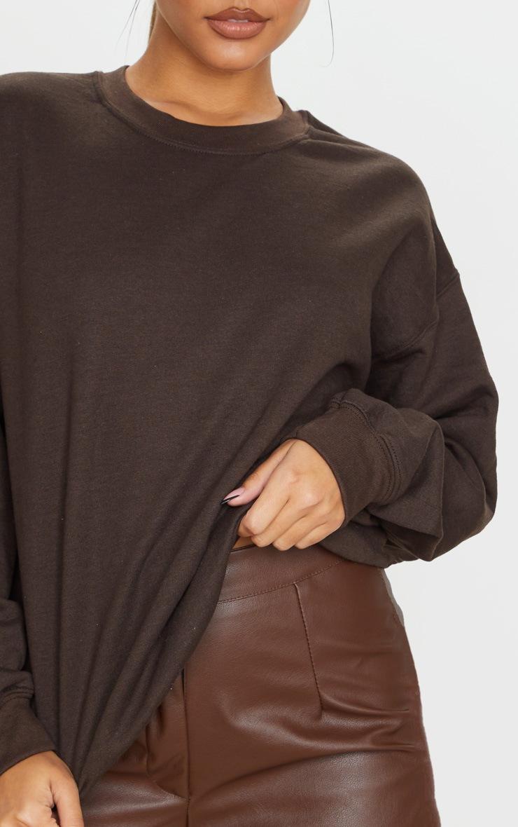 Chocolate Ultimate Oversized Sweatshirt 5