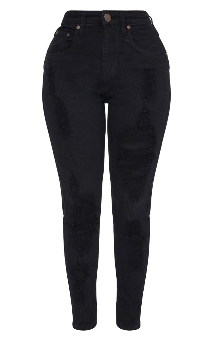 Shape - Jean skinny déchiré noir 3