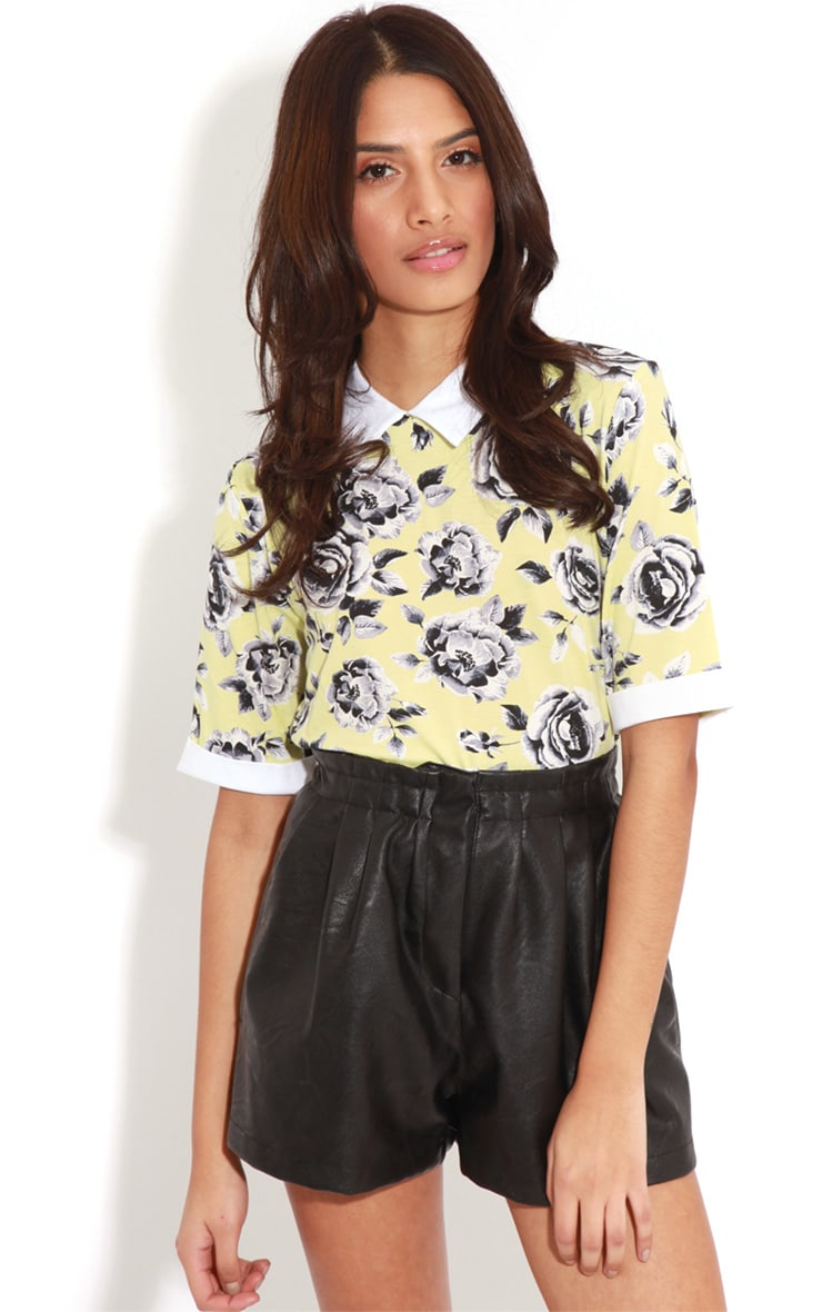 Elizabeth Yellow Floral Collar Top 5
