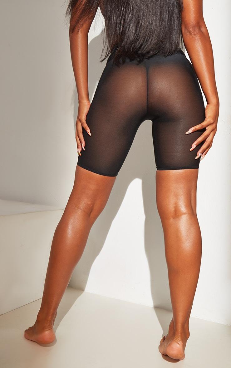 Black Shapewear Power Mesh Control Shorts 2