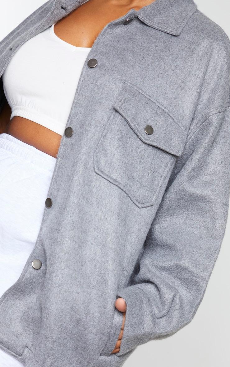 Plus Grey Pocket Front Shacket 4