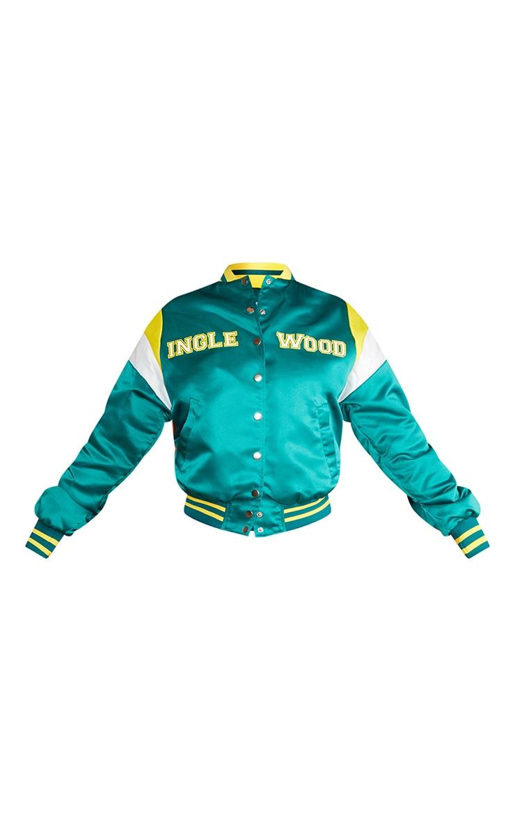 Green Oversized Inglewood Bomber Jacket 5
