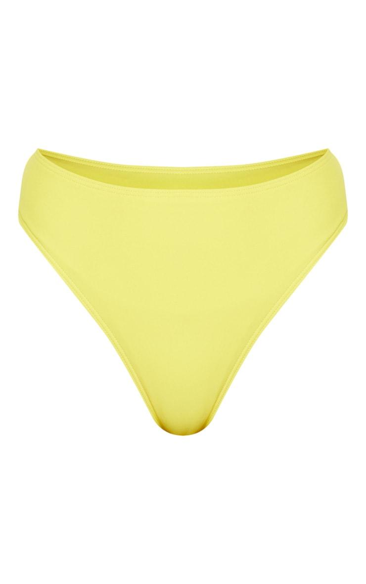Yellow High Waisted Cheeky Bum Bikini Bottom 3