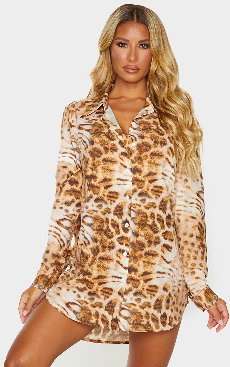 Leopard Print Beach Shirt 1