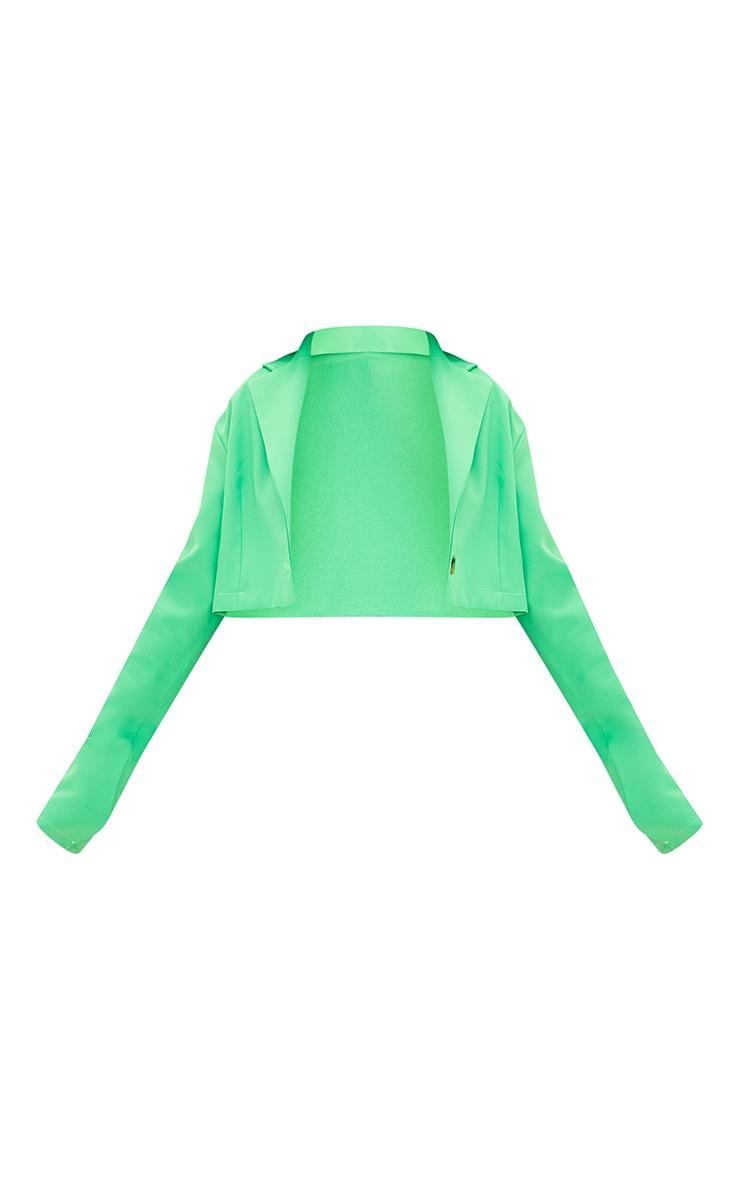 Green Cropped Blazer 5
