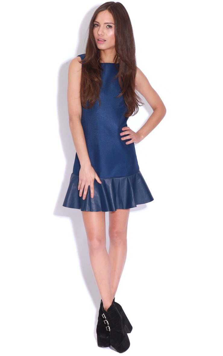 Ana Navy Peplum Mini Dress 3