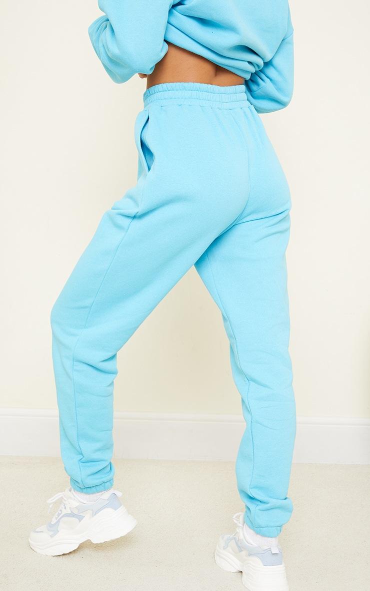 Bright Blue Pocket Detail Cuffed Joggers 3