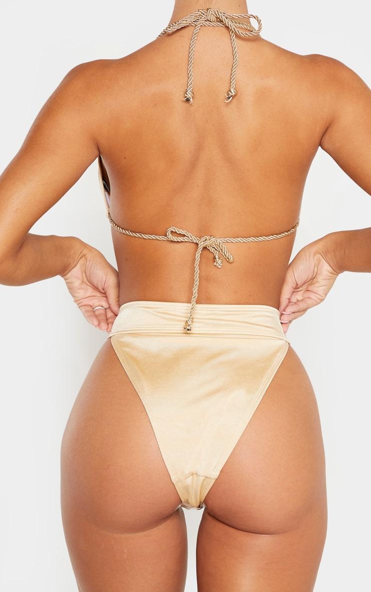 Nude Strappy Rope Bikini Bottom 3