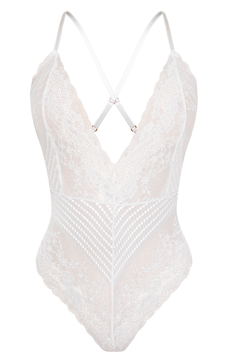 White Mixed Delicate Lace Body 3