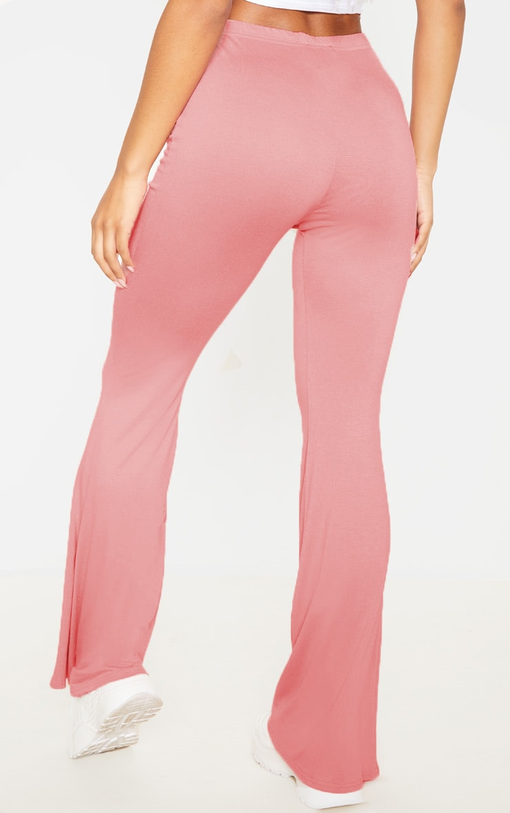 Dusty Rose And Grey Marl Basic Jersey Flare Leg Trouser 2 Pack 4