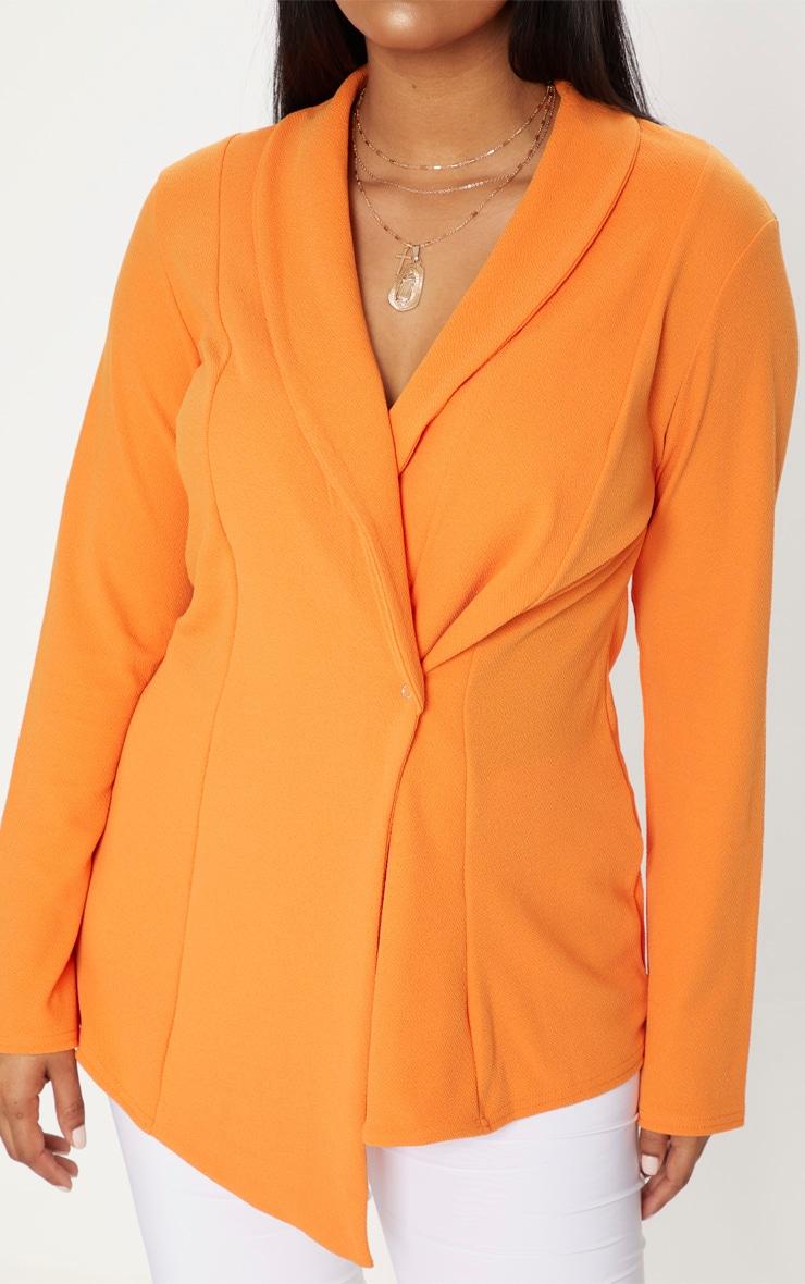 Plus Orange Wrap Detail Blazer 5