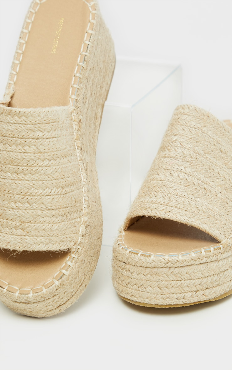 Natural Espadrille Mule Flatform Sandal 4