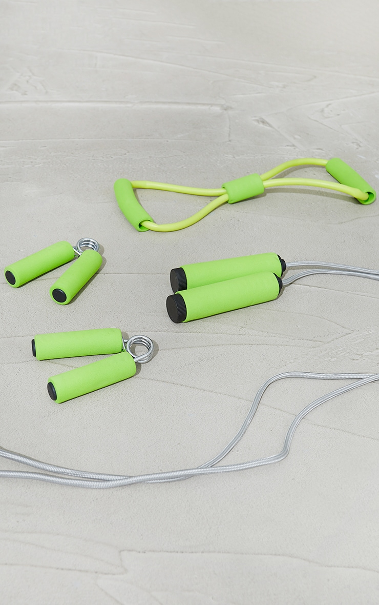 PRETTYLITTLETHING Lime Work Out Kit 1