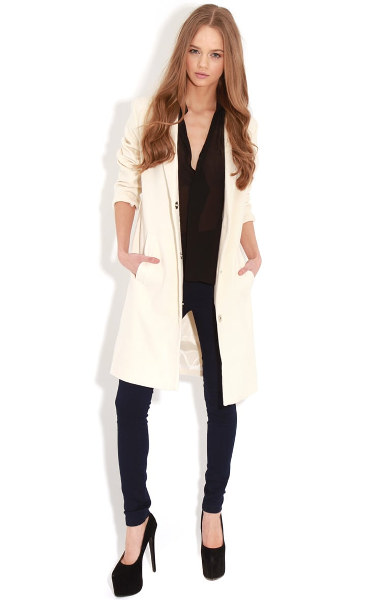 Avril Cream Longlined Boyfriend Coat 3