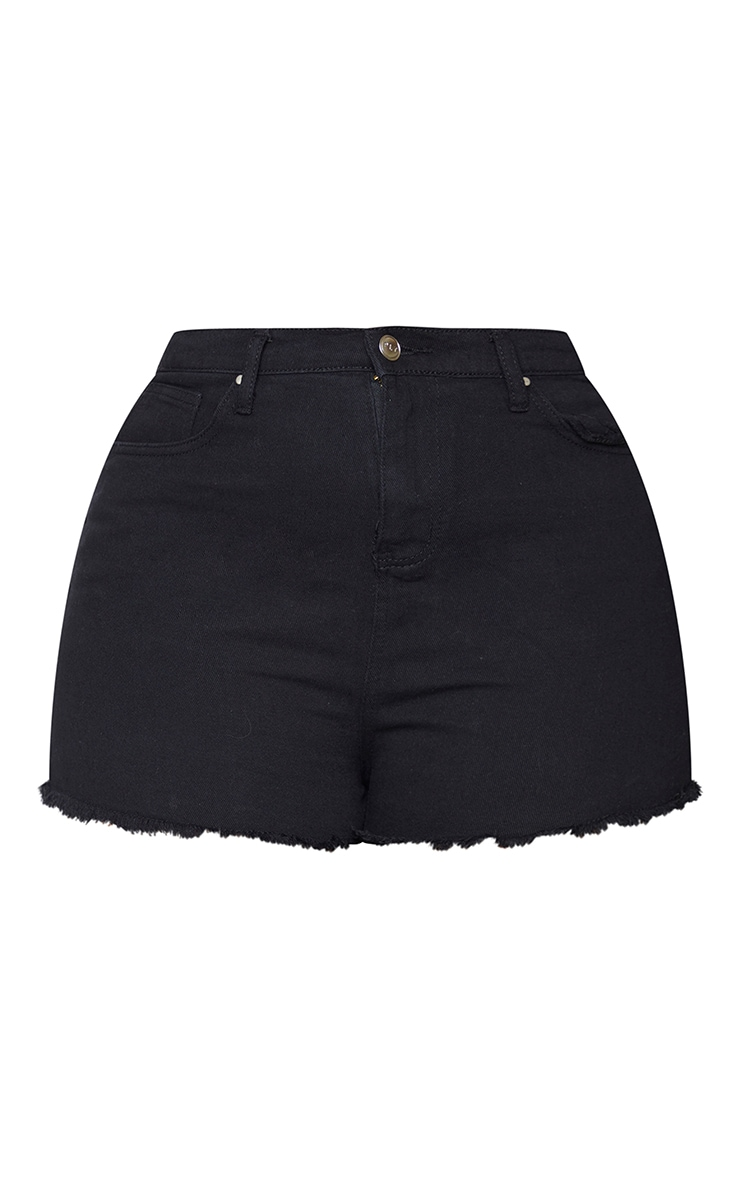 Plus Shelby High Waisted Black Denim Short 6