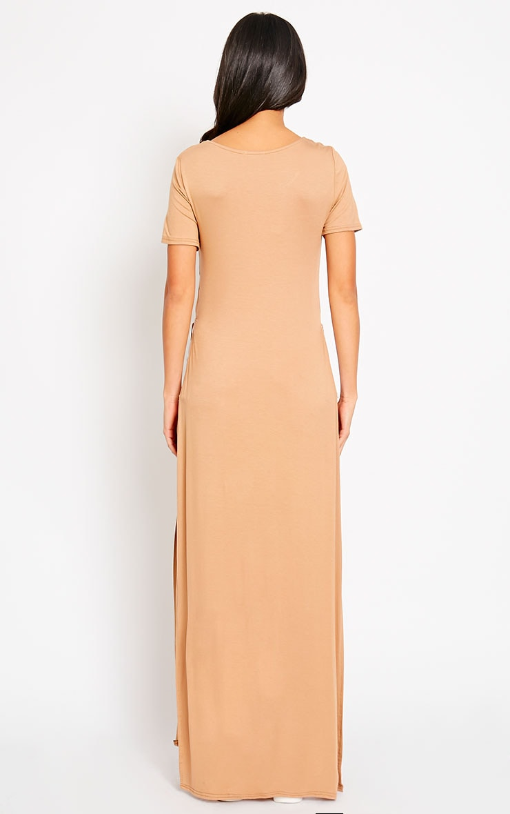 Monte Camel Side Split Maxi Top 2