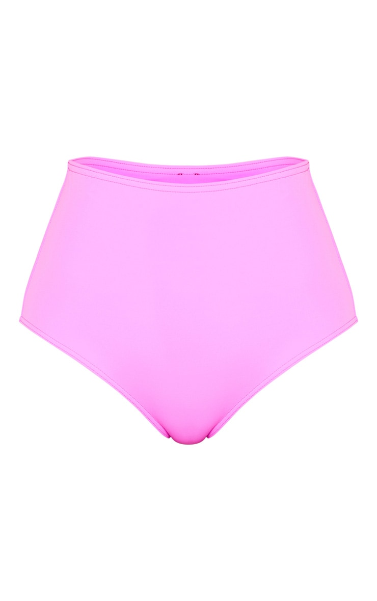 Magenta High Waisted High Leg Bikini Bottom 6