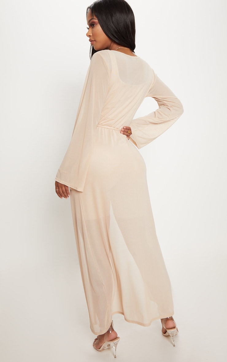 Shape Nude Sheer Mesh Maxi Duster Jacket 3