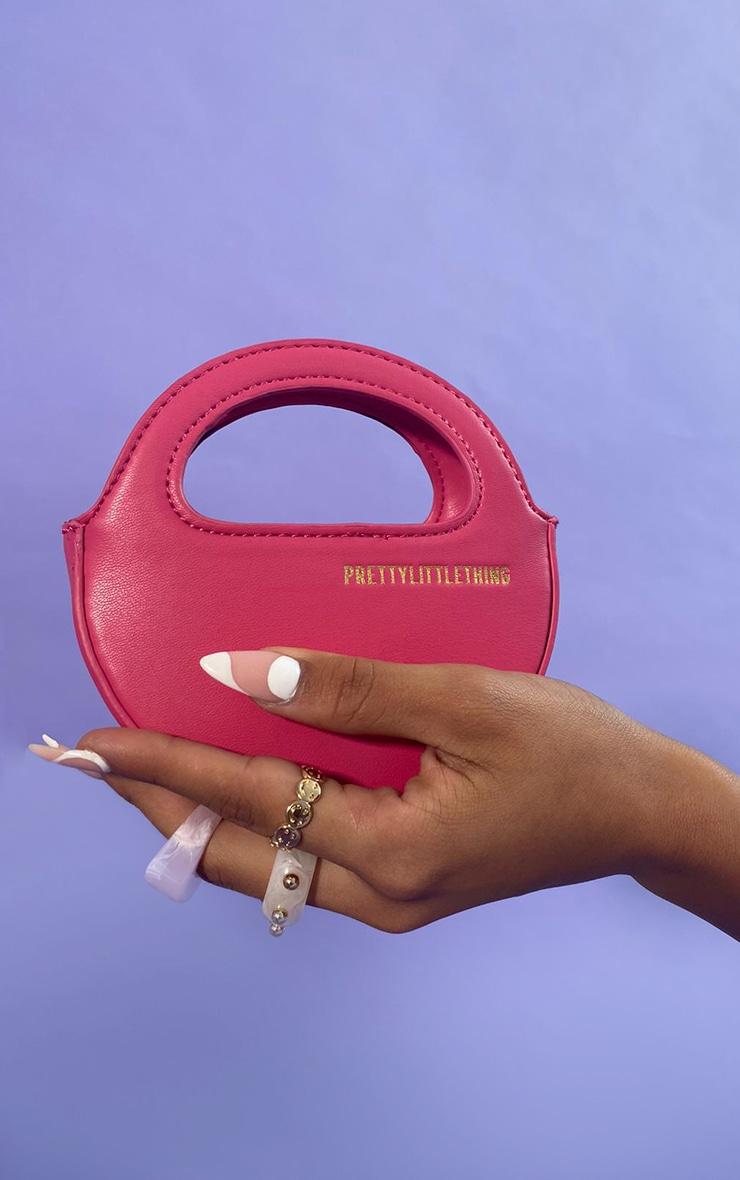 PRETTYLITTLETHING Pink Mini Round Grab Bag 1
