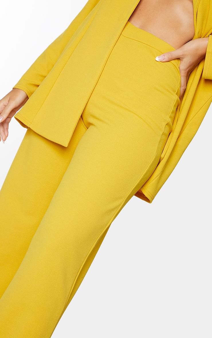 Mustard High Waisted Wide Leg Trousers 4