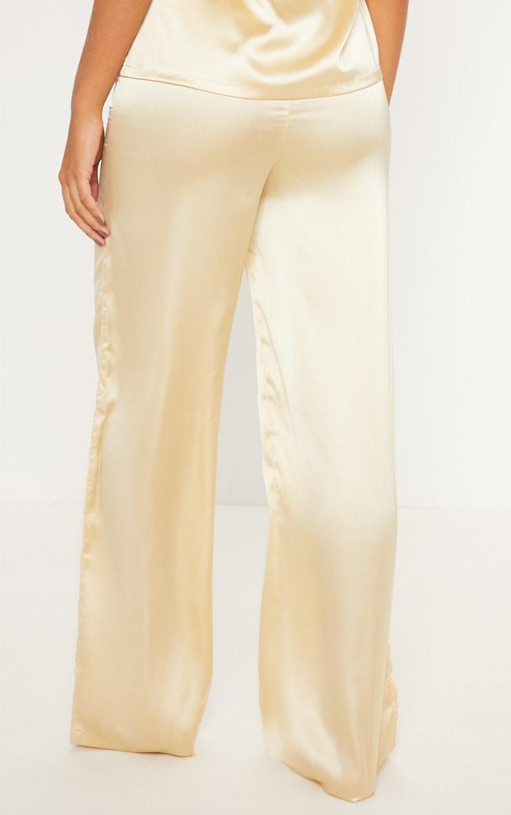 Champagne Basic Satin Long Pyjama Bottom 3