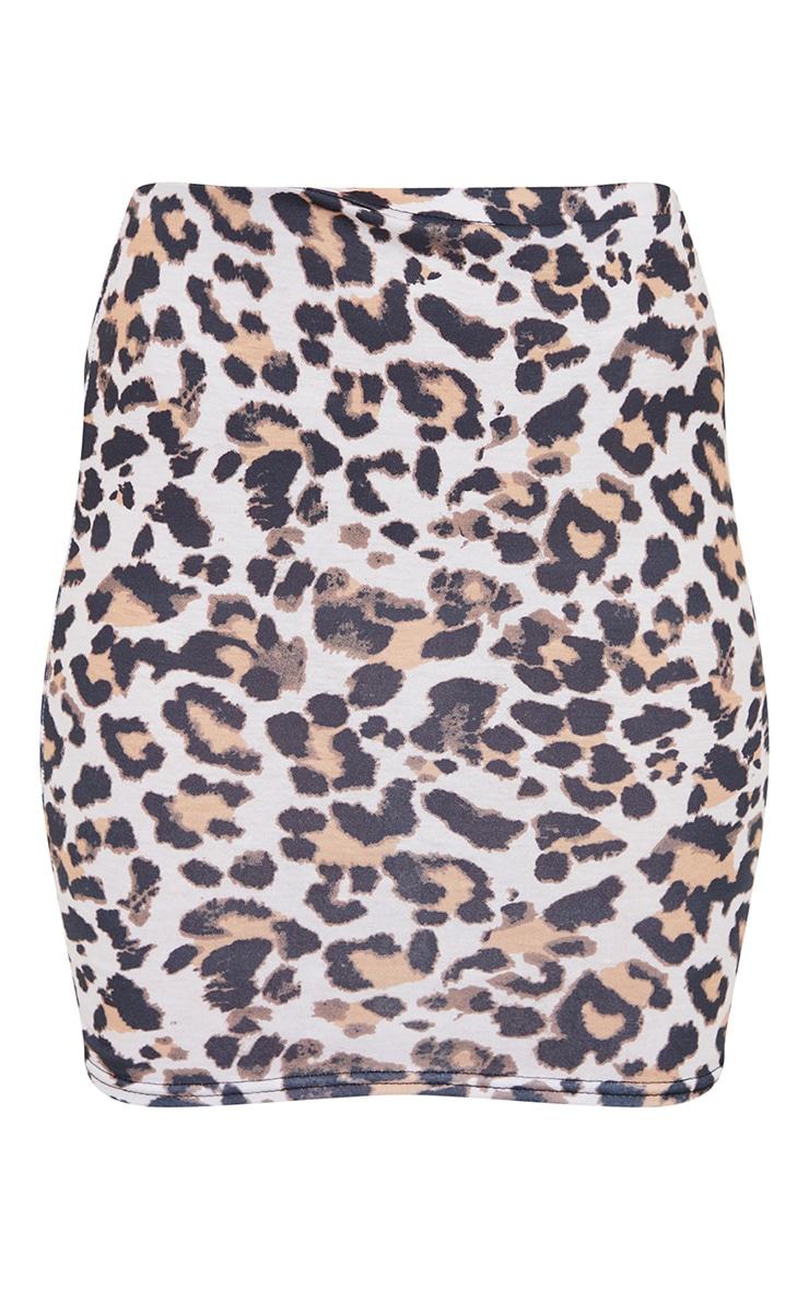 Leopard Print Basic Printed Mini Skirt 6