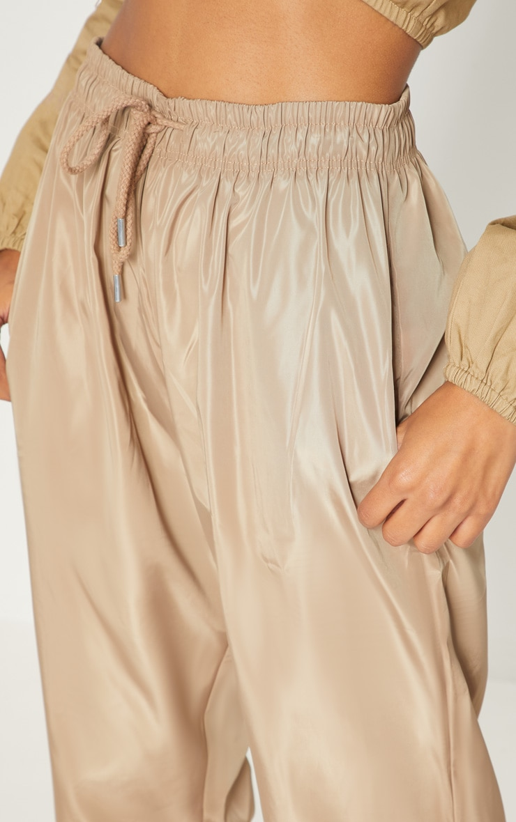 Taupe Drawstring Waist Shell Trouser 5