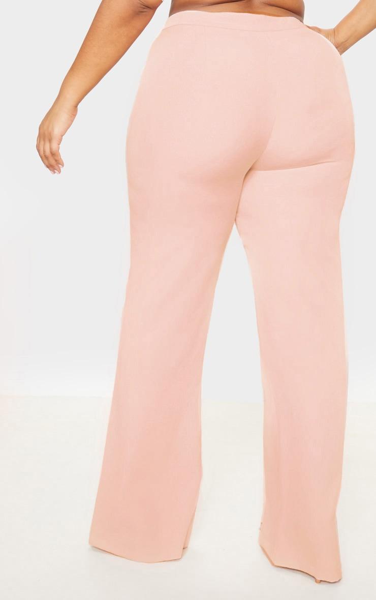Plus Nude Pocket Detail Wide Leg Pants 4
