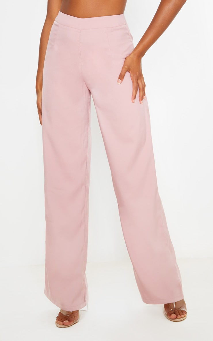 Dusty Rose Wide Leg Suit Pants 2