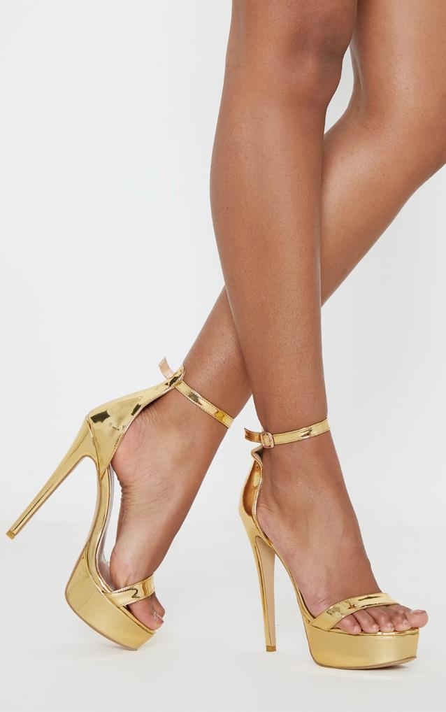 Gold Patent High Platform Heels 2