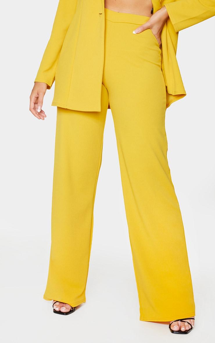 Mustard High Waisted Wide Leg Trousers 2
