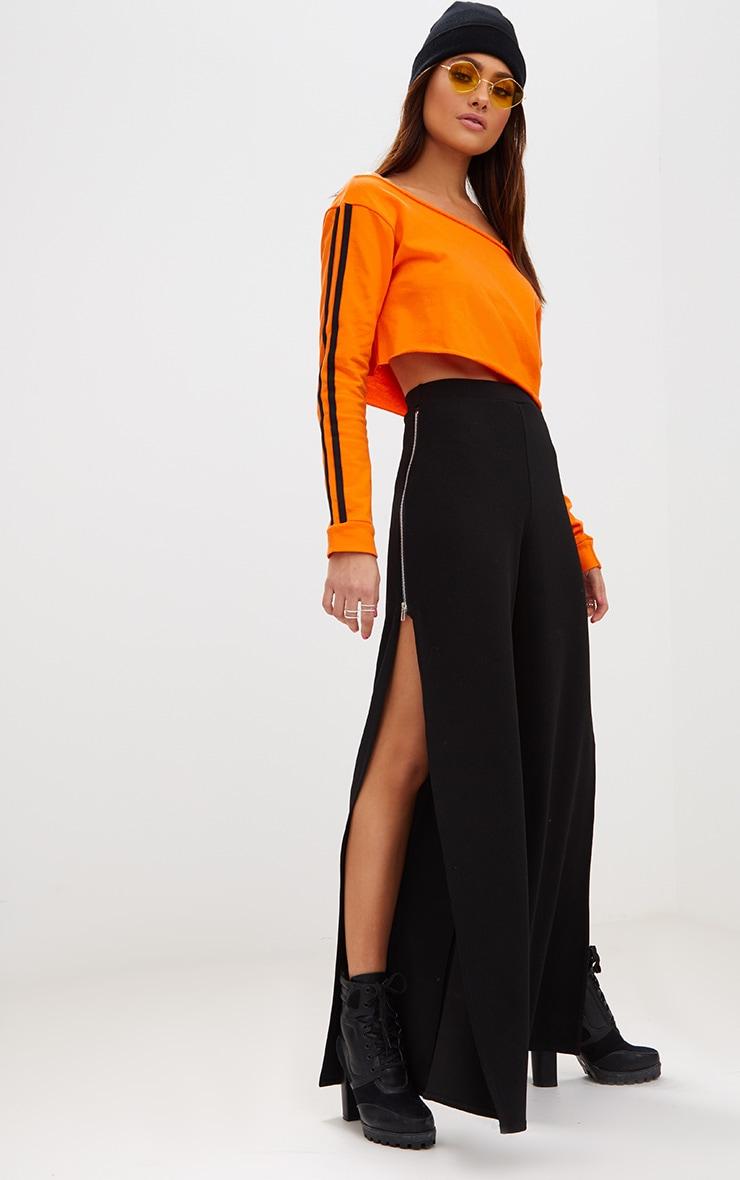 Orange Crop Stripe Sleeve Sweater  4